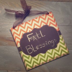 Chalk Board Fall Sign 🍁